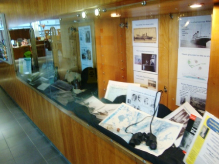 WS library display of Titanic Story - all panels