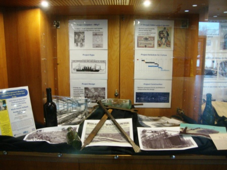 WS library display of Titanic Story - panel 1