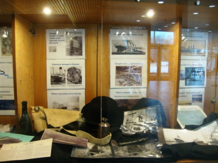 WS library display of Titanic Story - panel 2