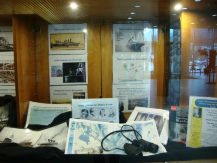 WS library display of Titanic Story - panel 3