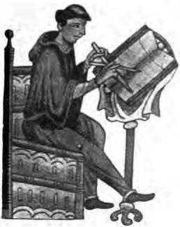 Ireland medieval monks - scribes